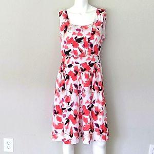 East 5th Floral Sleeveless Midi Dress. Sz 10